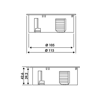 Twist Doppelsteckdose edelstahlfinish Steckdose Küche 2-fach Dose Arbeitsplatte