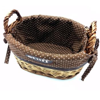 Dekorativer Baesto Zierkorb braun geflochten oval