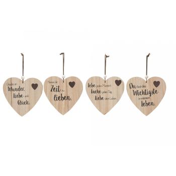 Holz Hängetafel Herz Form mit Spruch