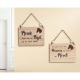 Holz Hängetafel rechteckig mit Spruch / Weisheit Motiv Pferd