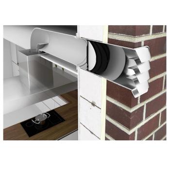 Thermobox 125 schwarz/silber zum Nachrüsten bestehender Mauerkästen