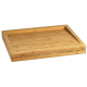Lurch Schneidbrett Bambusbrett groß mit leichter Schräge 50x40x4,5cm