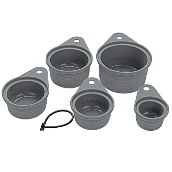 Lurch Set flexible Messbecher 5-teilig flint grey