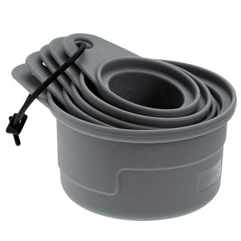 Lurch Set flexible Messbecher 5-teilig flint grey