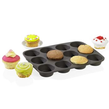 American Muffins Backform 12fach braun Silikon