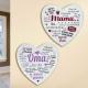 Herz Metall Schild Hängeschild mit Weisheiten zum Aufhängen Mama & Oma