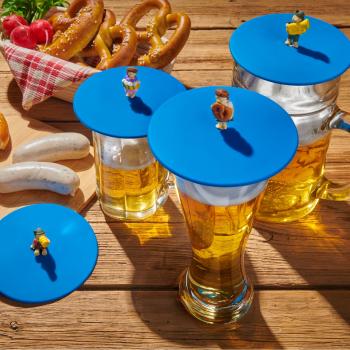 4er Set Glasdeckel Biergarten aus Silikon perfekt zum...