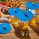 4er Set Glasdeckel Biergarten aus Silikon perfekt zum Schutz der Getränke vor Insekten