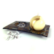 Gilde Kerzenteller runde Öffnung Dekoschale Kerzenhalter