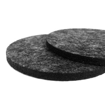 Filzuntersetzer dunkelgrau rund 96 x 96 mm