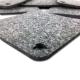 8er Set Untersetzer HEART aus Filz grau melliert mit Herz 96 x 96 x 4 mm Bierdeckel Glasuntersetzer