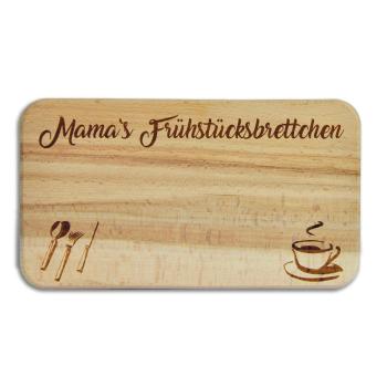 """Frühstücksbrett """"MAMA"""" Buche mit Gravur"""