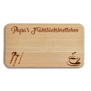 "Frühstücksbrett ""PAPA"" Buche mit Gravur"
