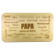 """Frühstücksbrettchen """"Papa"""" mit Lasergravur 225 x 125 mm Buche rechteckig"""