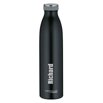 TC Bottle Schwarz Matt 0,75 Liter mit Wunschname