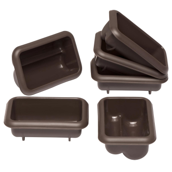 Mini Stollen Lurch Flexiform braun Silikon 6er Set