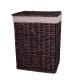Wäschekorb Weidengeflecht hellbraun 60 x 45 x 35 cm mit Stoffinlay