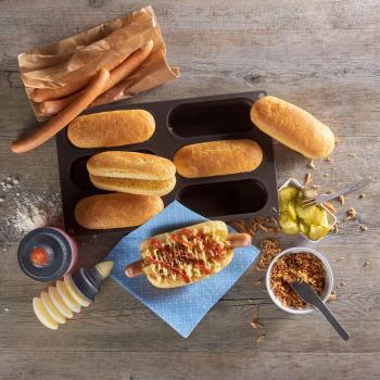 Hotdog Buns Lurch FlexiForm braun 6-fach