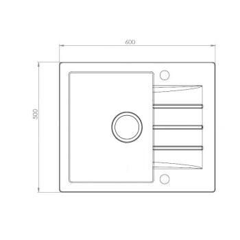 Axigran Granitspüle Mojito 20 Schwarz 45er