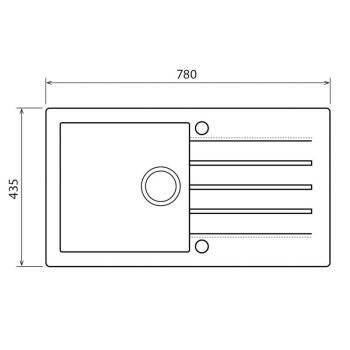 Axigran Granitspüle Mojito 40 Beton 50er