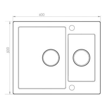 Axigran Granitspüle Mojito 80 Schwarz 60er