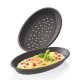 Pizza Backform 2er Set braun Silikon Pizzaform Pizzabackform