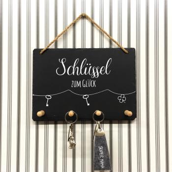 """Schiefer Schlüsselboard """"Schlüssel zum..."""