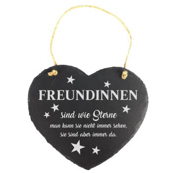 """Schieferherz """"Freundinnen sind wie Sterne"""" 20 x..."""
