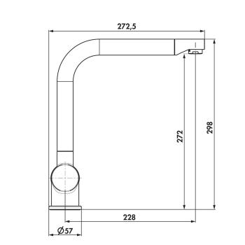 Set Granitspüle Mojito 100 Weiss 86x50 cm + Armatur Drive 1 Hochdruck Chrom