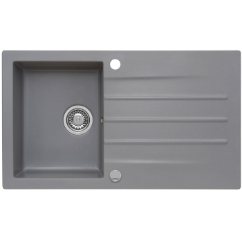 Set Granitspüle Mojito 100 Moonlight Grey 86x50 cm +...