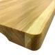 Hackbrett Tranchierbrett 40 x 25 cm Holz massiv Eiche geölt 4 cm stark mit Griffen