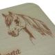 Frühstücksbrettchen Horse II Pferdekopf & Guten Appetit 225 x 125 mm Buche rechteckig