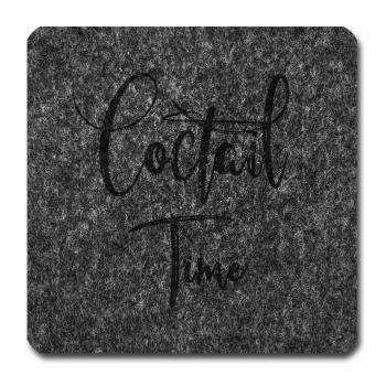 Filzuntersetzer Coctail Time grau melliert 96 x 96...