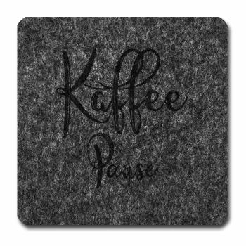 Filzuntersetzer Kaffee Pause grau melliert 96 x 96...