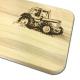 Frühstücksbrettchen für Kinder Traktor Buche
