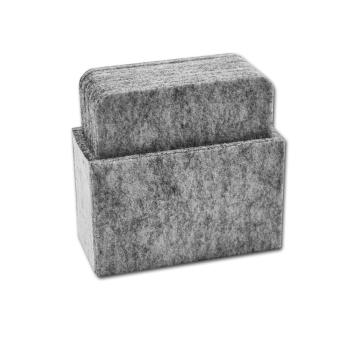 Filz Untersetzer MODENA hellgrau mit Box 9-teilig
