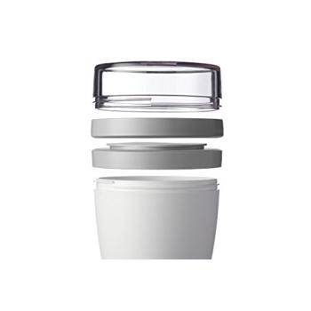 Lunchpot Ellipse Weiß 500 ml + 200 ml
