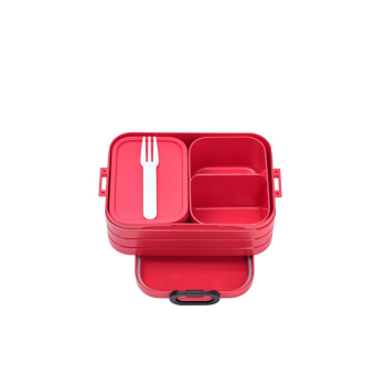 Bento Lunchbox Take a Break midi Nordic Red 900 ml mit...