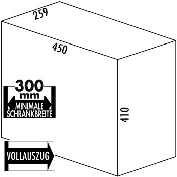 Abfallsammler Double deluxe Mülleimer 30 Liter grau...
