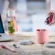 Besteckset Edelstahl Ellipse 3-teilig Nordic Pink mit Hülle