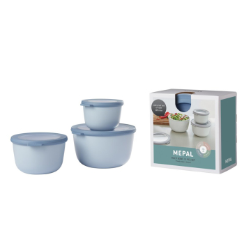 Set Multischüssel Cirqula Nordic Blue 3-teilig