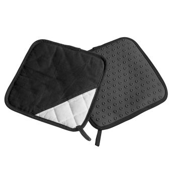Lurch Topflappen Silikon & Textil schwarz 2er Set