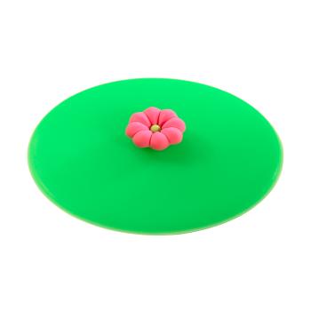 Glasdeckel aus Silikon Blume Blüte rosa