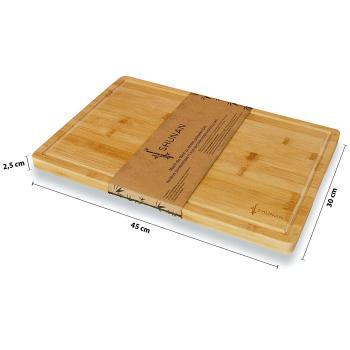 """Premium Holzschneidbrett """"Shunan"""" Bambus 45 x..."""