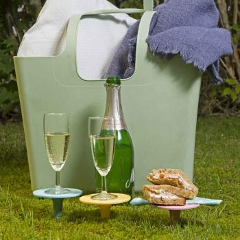 Lurch Picknickdorn Getränkehalter 4er Set