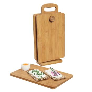 4er Set Bambus Frühstücksbretter im...