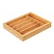 Besteckeinsatz aus Bambus ausziehbar