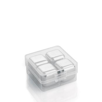 Cilio Kühlwürfel STEEL 4er Set Edelstahl