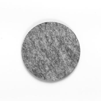 Filzuntersetzer hellgrau rund 96 x 96 mm