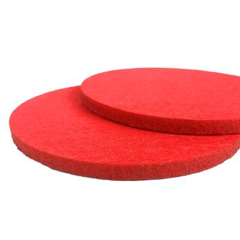 Filzuntersetzer rot rund 96 x 96 mm